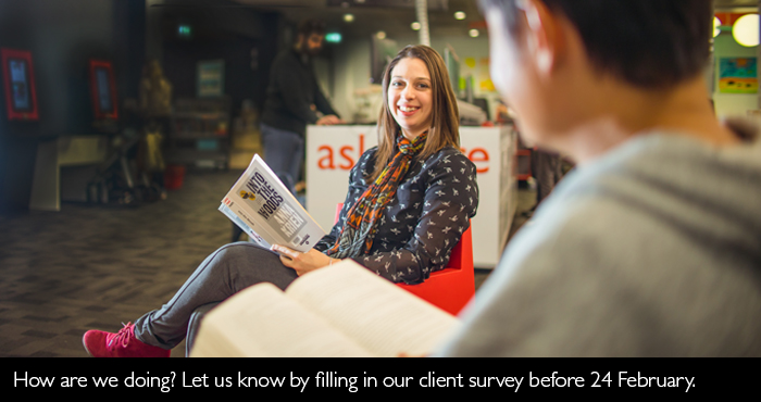 Take our client survey