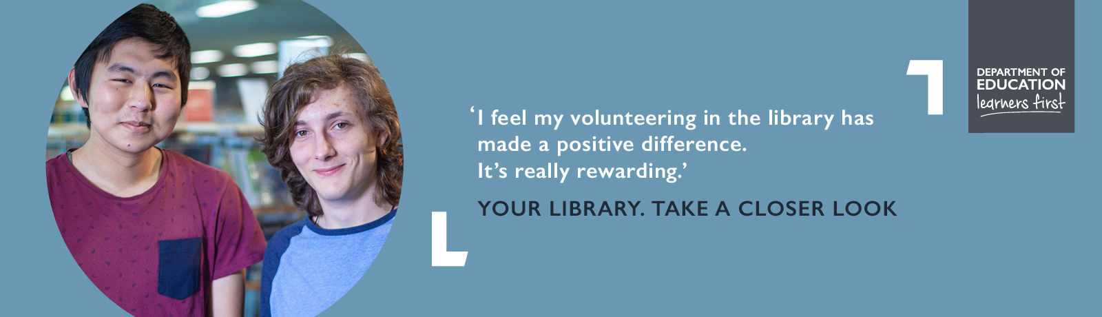 I feel my volunteering in the library has made a positive difference. It's really rewarding.