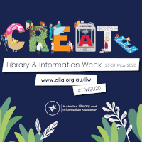 Library and Information Week online in 2020 with a theme of Create