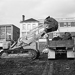 Photograph - State Library of Tasmania, Hobart - excavating the site in Murray Street