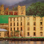 Photograph Port Arthur Penitentiary from bay